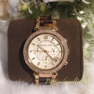 Michael Kors Parker Chronograph Tortoise Watch